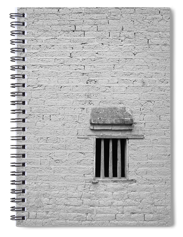 Toughness Spiral Notebook featuring the photograph Old Prison by Blackred