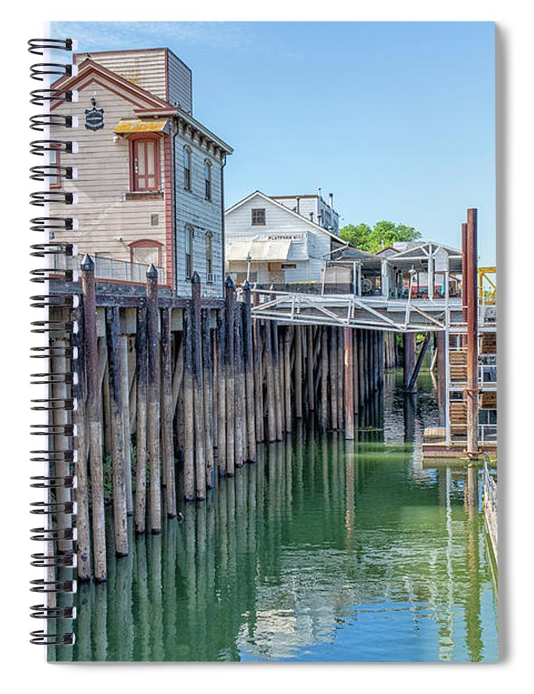 Old Town Sacramento Spiral Notebook featuring the photograph Old Sacramento Waterfront by Jim Thompson