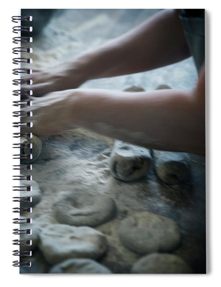 Working Spiral Notebook featuring the photograph One Person Baking Bread, Sweden by Koller, Lena
