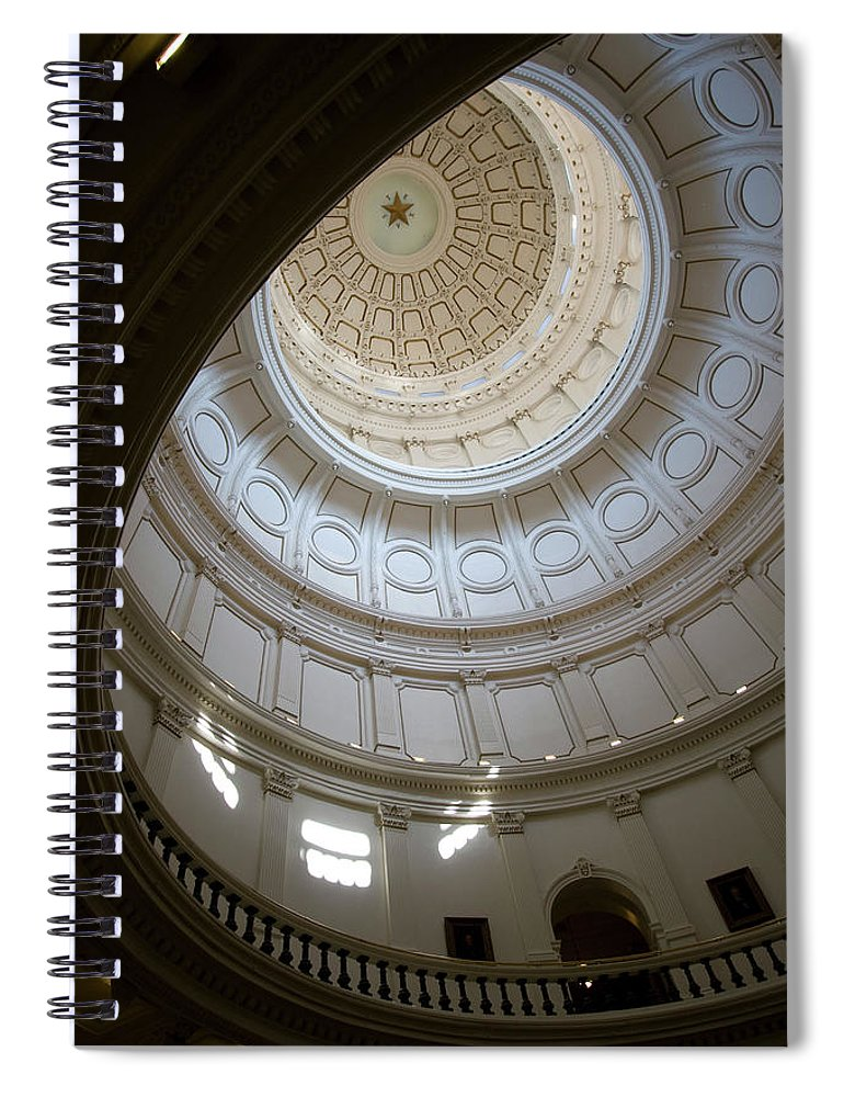Democracy Spiral Notebook featuring the photograph Ornate Round Dome Of The Capital by Wpcg