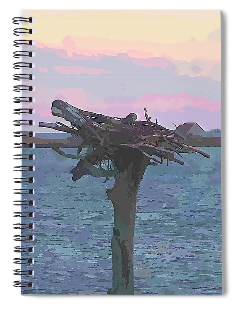 Osprey Spiral Notebook featuring the photograph Osprey Empty Nest 2 by Cathy Lindsey