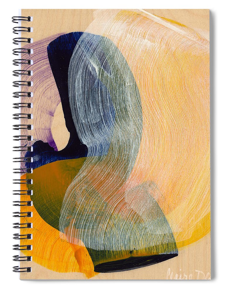 Abstract Spiral Notebook featuring the painting Out Of The Blue 04 by Claire Desjardins