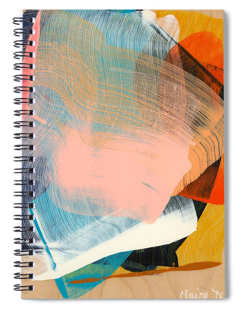 Abstract Spiral Notebook featuring the painting Out Of The Blue 06 by Claire Desjardins