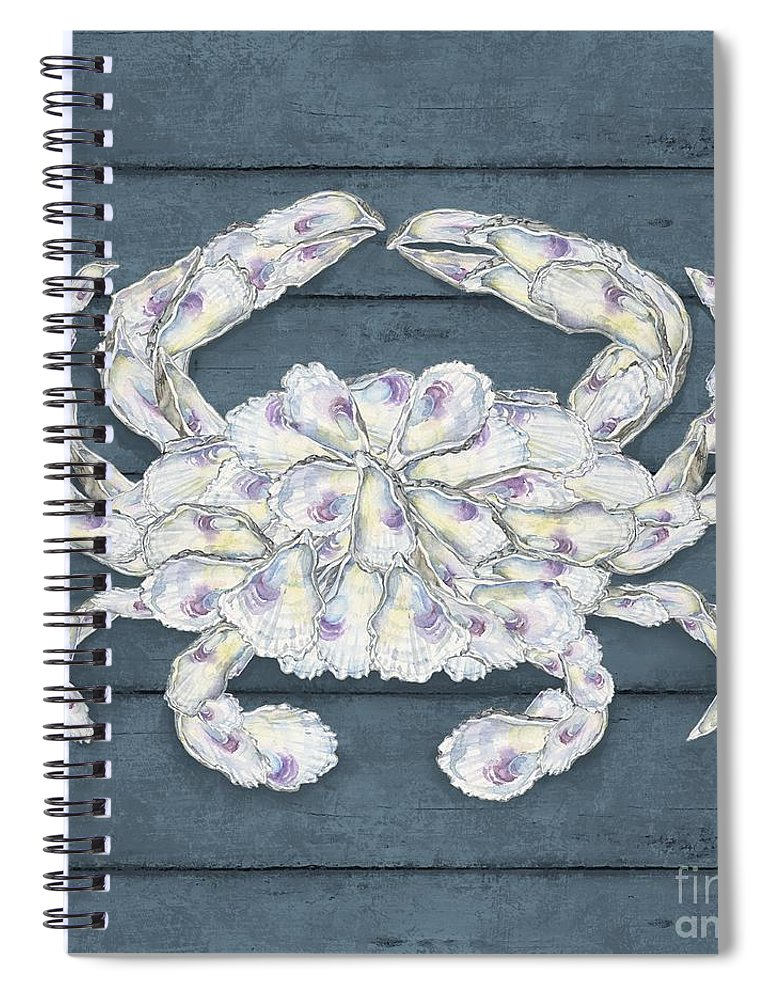 Watercolor Spiral Notebook featuring the painting Oyster Cluster Vii by Paul Brent