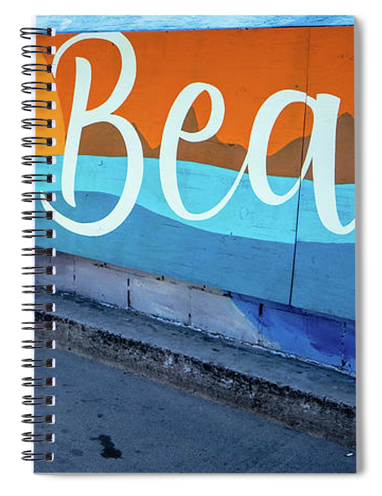 Pacific Beach Spiral Notebook featuring the photograph Pacific Beach Sign San Diego California by Edward Fielding