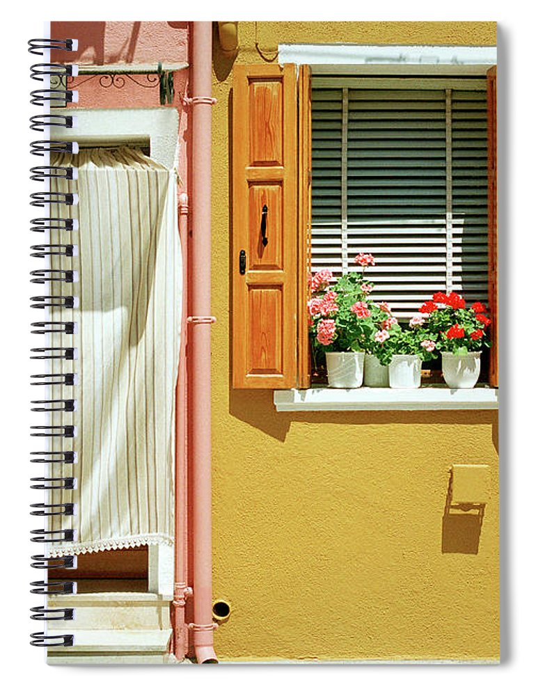 Hanging Spiral Notebook featuring the photograph Painted House In Burano by Terraxplorer