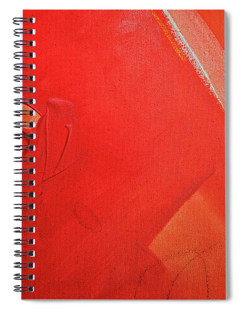 Gouache Spiral Notebook featuring the digital art Painting On Canvas by Petekarici