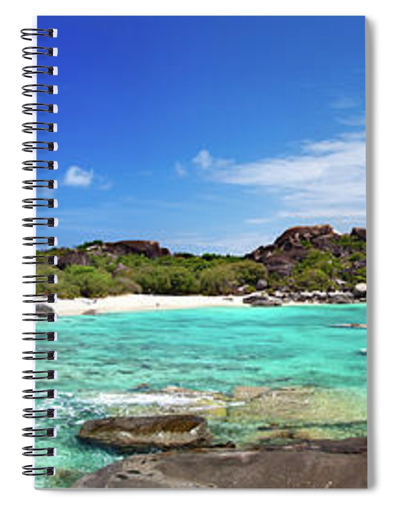 Scenics Spiral Notebook featuring the photograph Panorama Of Spring Bay And The Baths by Cdwheatley
