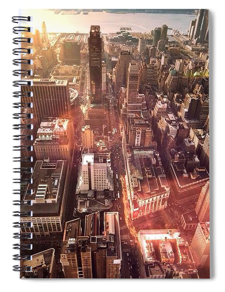 Trading Spiral Notebook featuring the photograph Panoramic View Of A Modern City by Ana Aguiar / Eyeem