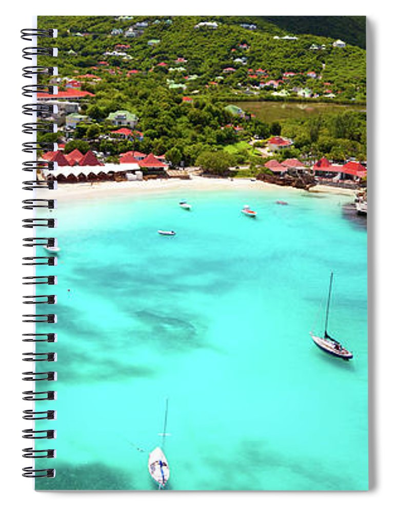 Water's Edge Spiral Notebook featuring the photograph Panoramic View Of St.jean Bay In by Cdwheatley