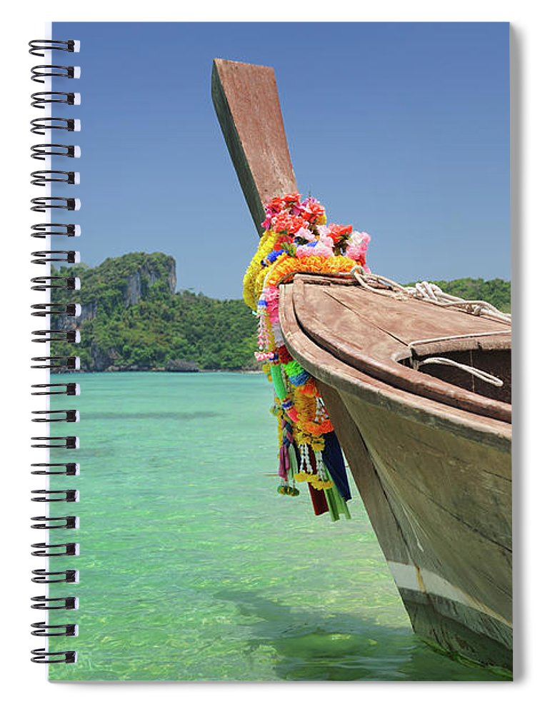 Tropical Rainforest Spiral Notebook featuring the photograph Paradise Tropical Beach With Longtail by 4fr