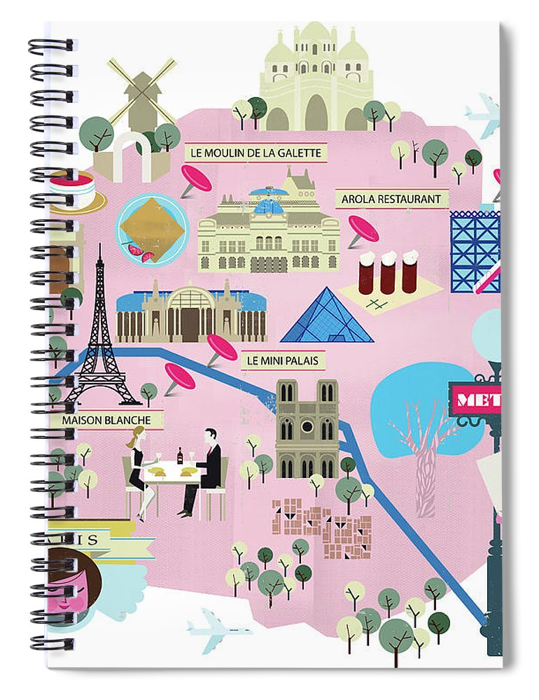 People Spiral Notebook featuring the photograph Paris by Luciano Lozano