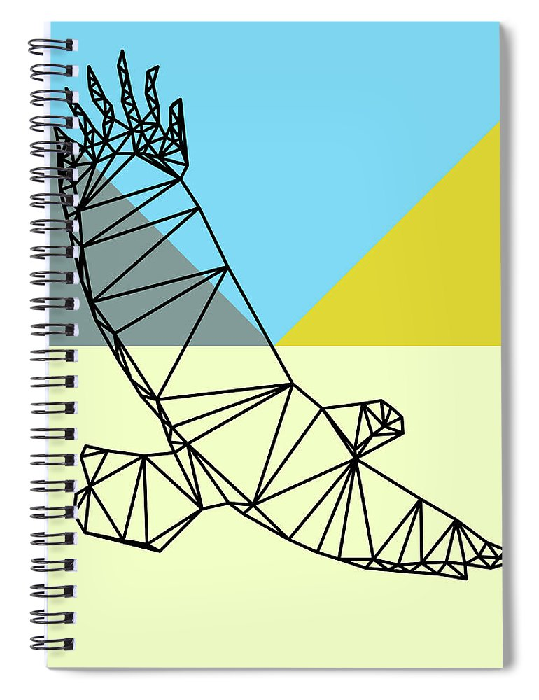 Eagle Spiral Notebook featuring the digital art Party Eagle by Naxart Studio