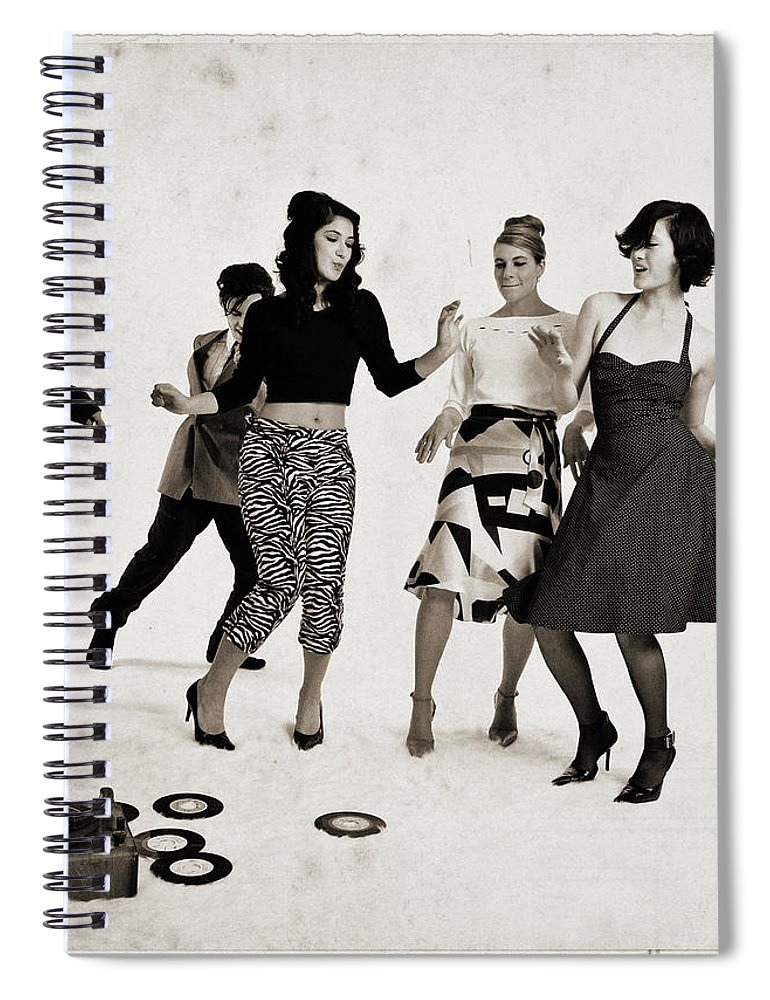 People Spiral Notebook featuring the photograph Party by Lisegagne