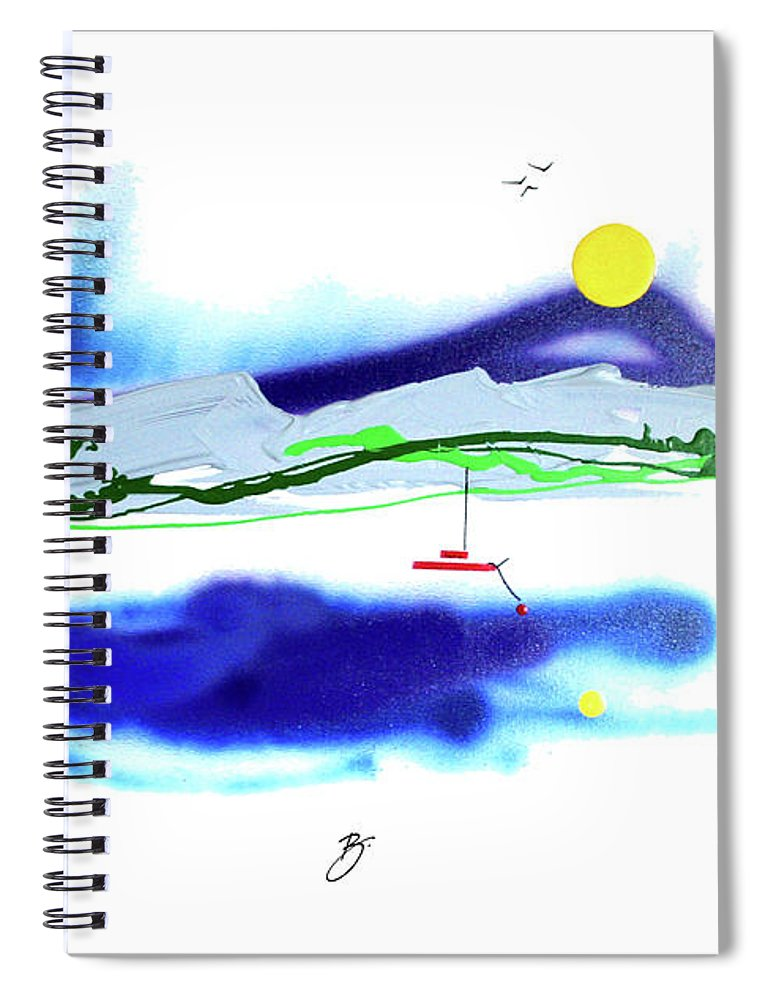 Mother Nature Love Spiral Notebook featuring the painting Peace And Light by Dick Buckley