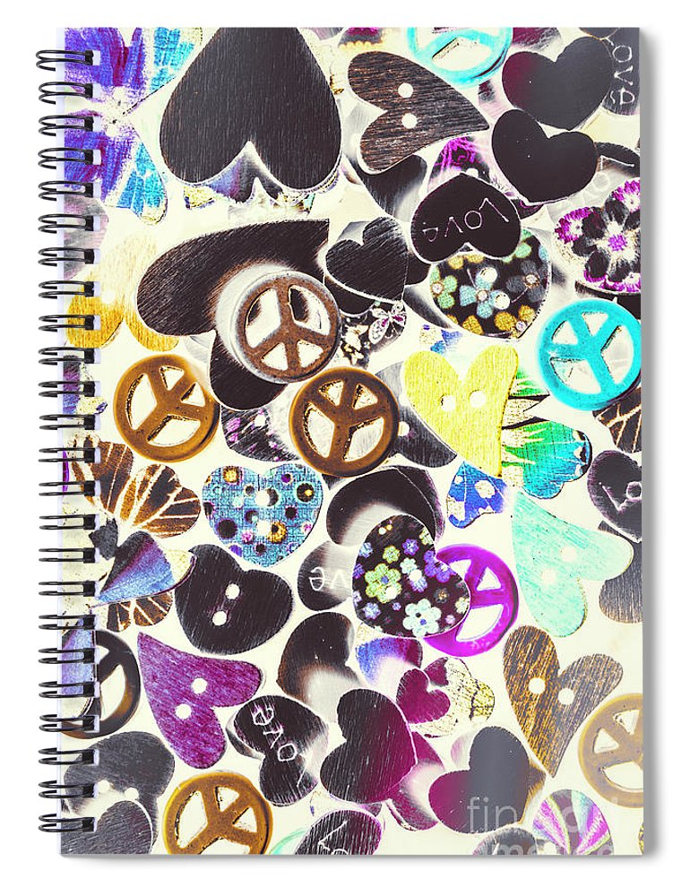 Funky Spiral Notebook featuring the photograph Peace Revival by Jorgo Photography - Wall Art Gallery