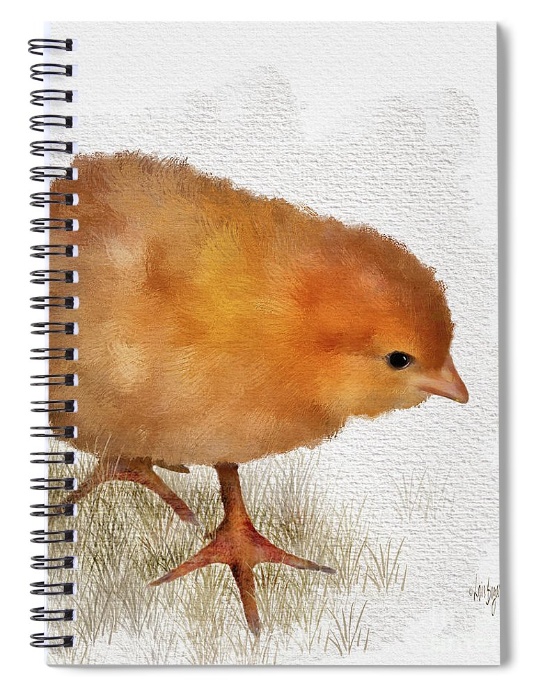 Bird Spiral Notebook featuring the digital art Peep Peep by Lois Bryan