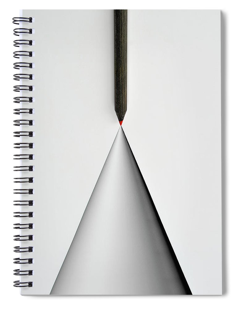 Art Spiral Notebook featuring the photograph Pencil And The Structure Of The Cone by Yagi Studio