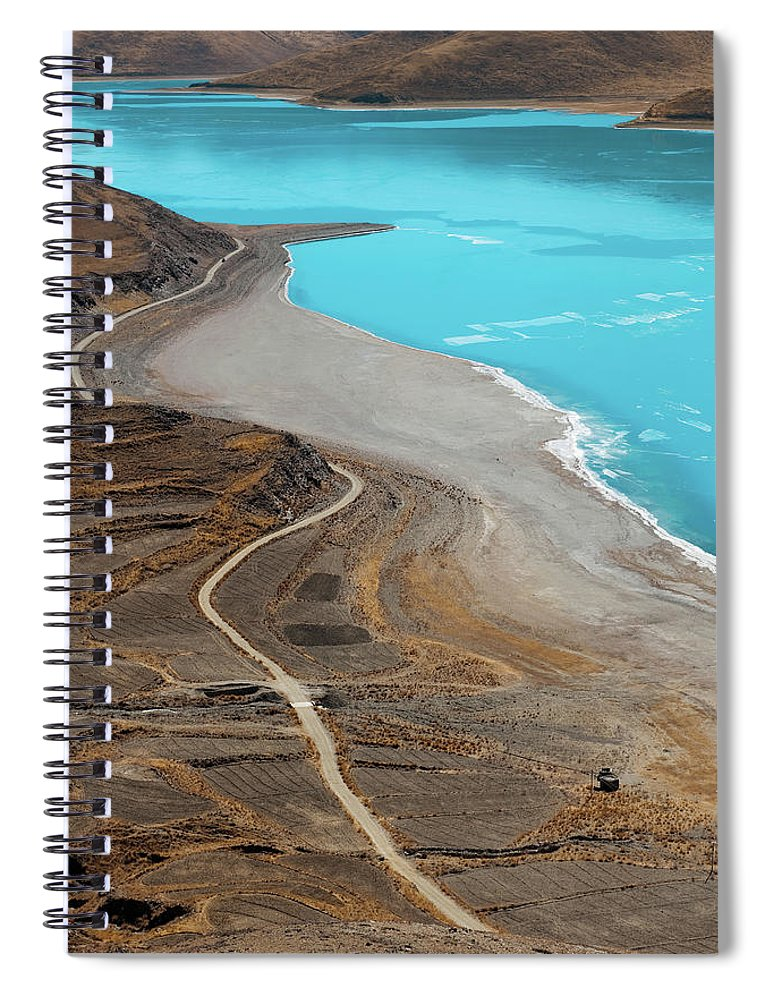 Tranquility Spiral Notebook featuring the photograph Perfect Curve by Touch The Word By Heart.