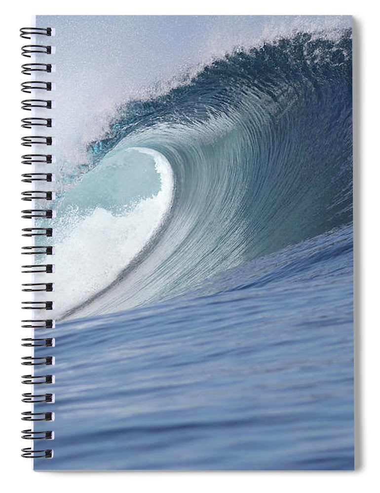 Spray Spiral Notebook featuring the photograph Perfect Wave by Reniw-imagery