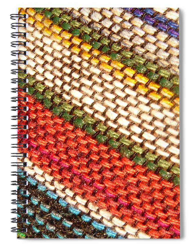 Art Spiral Notebook featuring the photograph Peruvian Fabric Art by Images By Luis Otavio Machado