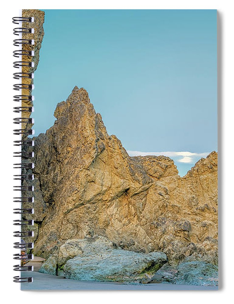 Bandon Beach Spiral Notebook featuring the photograph Petrified Tree Root Ball by Jim Thompson