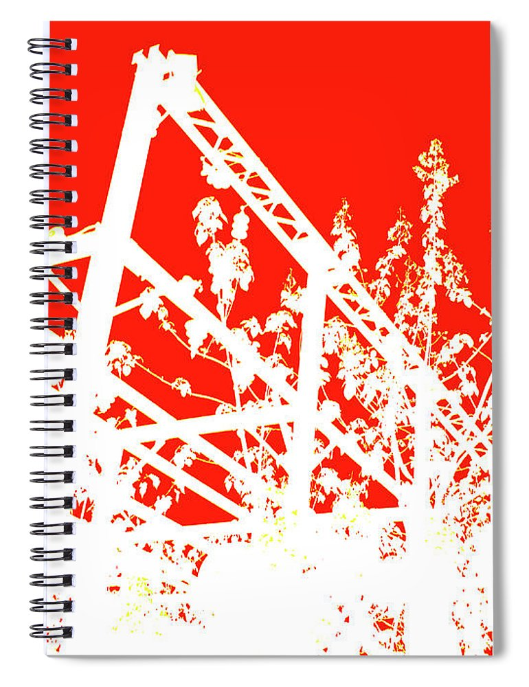 Philadelphia Cityscape Spiral Notebook featuring the photograph Philadelphia Rail Park View 1 by Rose Drew