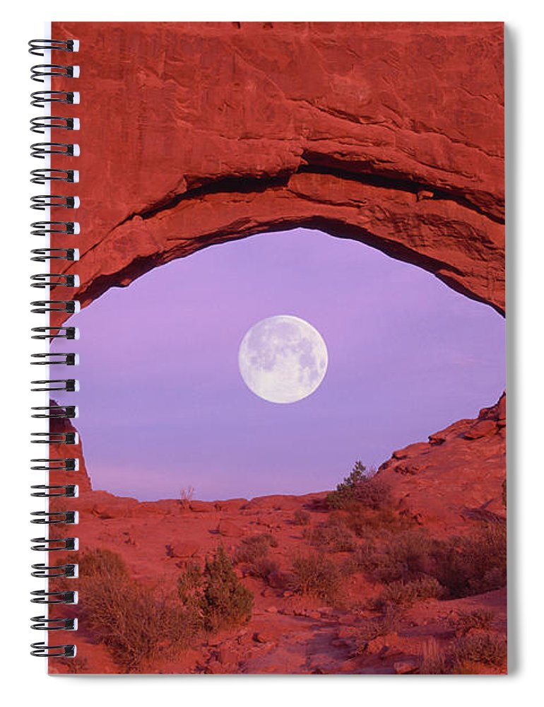 Scenics Spiral Notebook featuring the photograph Photographer At Window At Arches by Grant Faint