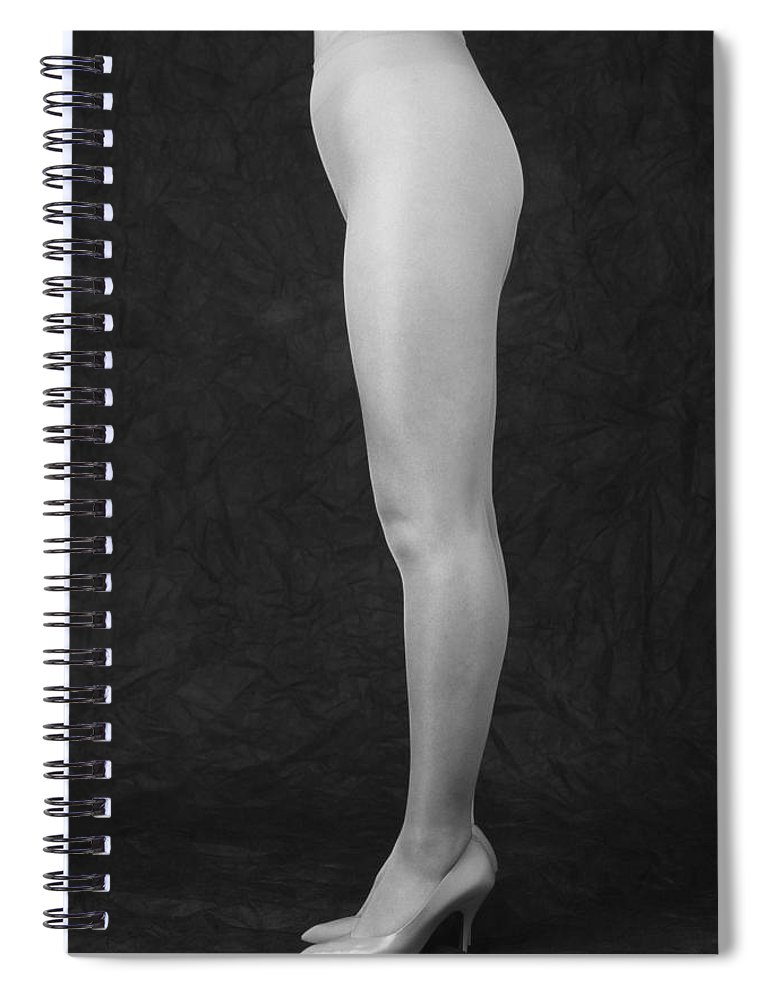 Cool Attitude Spiral Notebook featuring the photograph Photography Of Standing Womans Legs by Daj