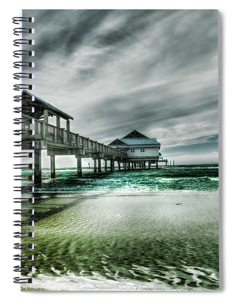 Water's Edge Spiral Notebook featuring the photograph Pier by Chumbley Photography