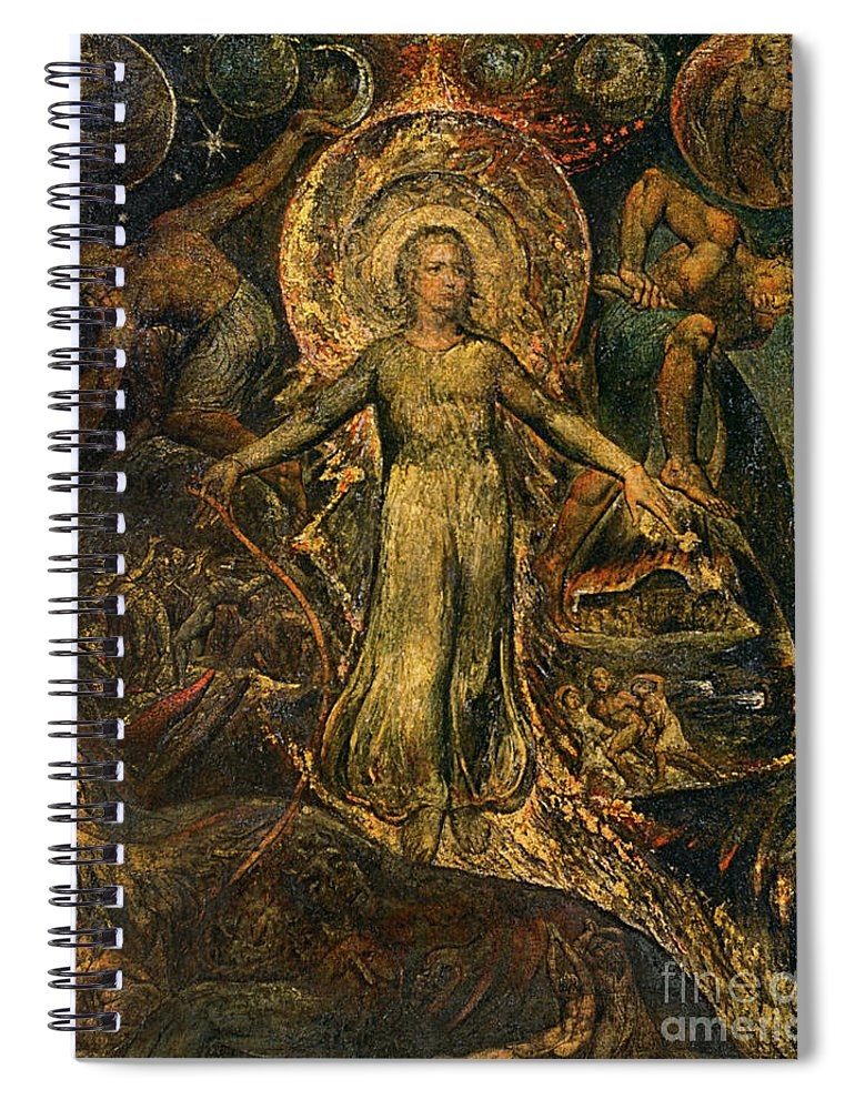 1805 Spiral Notebook featuring the painting Pitt Guiding Behemoth, C1805 by William Blake