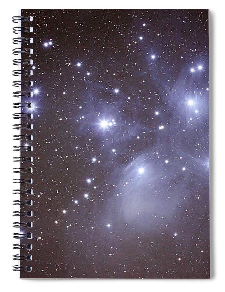 Majestic Spiral Notebook featuring the photograph Pleides by Pat Gaines