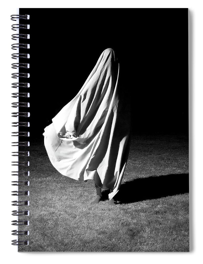 Shadow Spiral Notebook featuring the photograph Poem Of A Dead Song by Lauralani