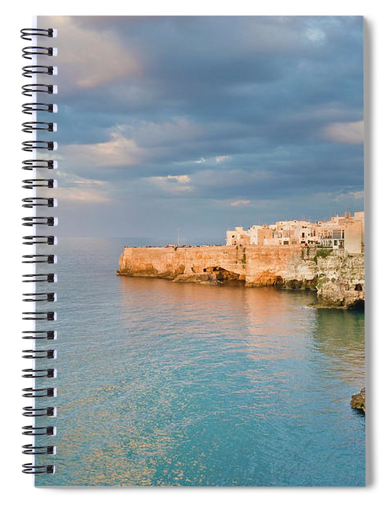 Adriatic Sea Spiral Notebook featuring the photograph Polignano A Mare On The Adriatic Sea by David Madison