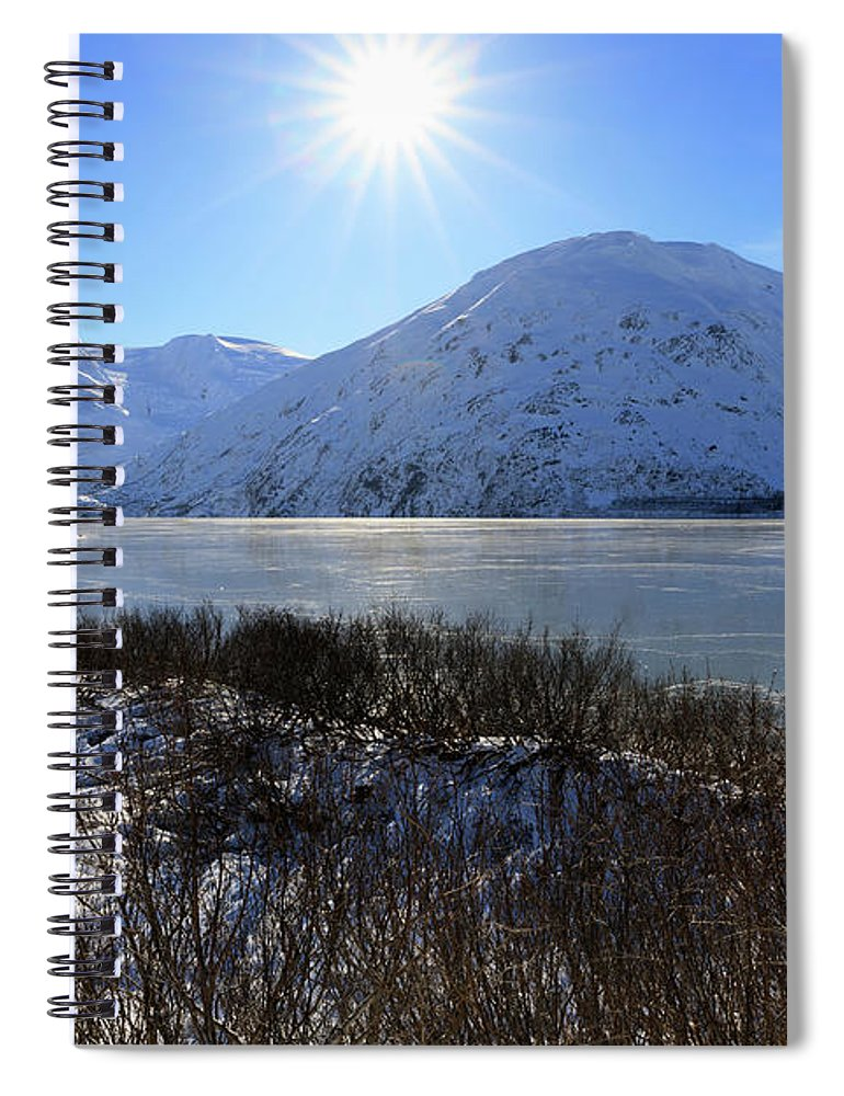 Baird Peak Spiral Notebook featuring the photograph Portage Lake Alaska by Louise Heusinkveld