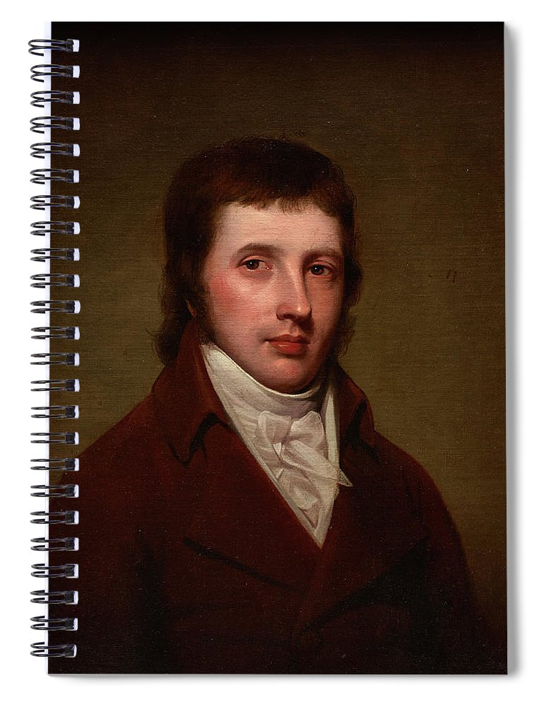 Portrait Of A Man Spiral Notebook featuring the painting Portrait Of A Man by Rembrandt Peale