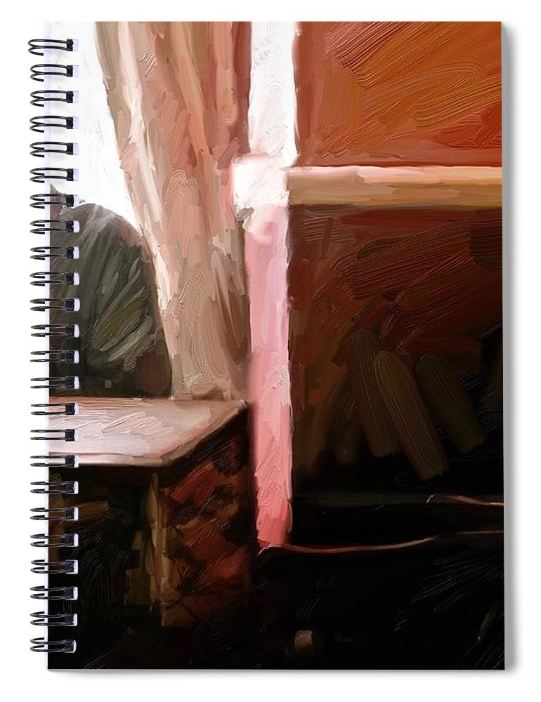 Cornwall Spiral Notebook featuring the digital art Down the Arms by Scott Waters
