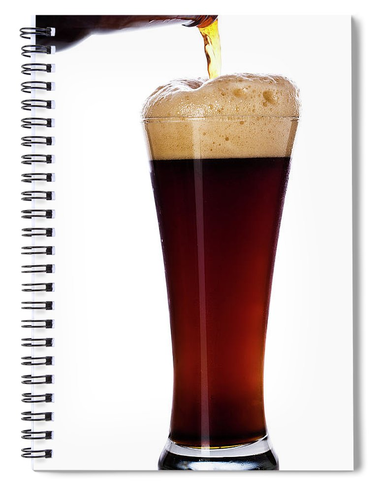 Stout Spiral Notebook featuring the photograph Pouring The Lager by Eli asenova
