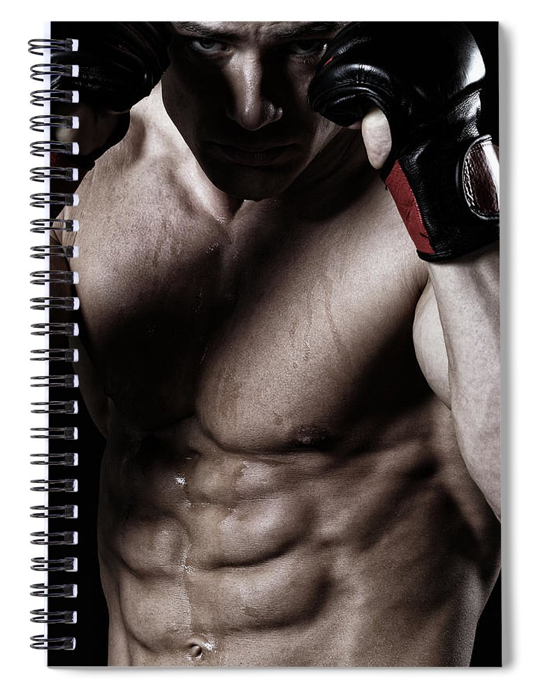 Toughness Spiral Notebook featuring the photograph Powerful Fighter by Vuk8691