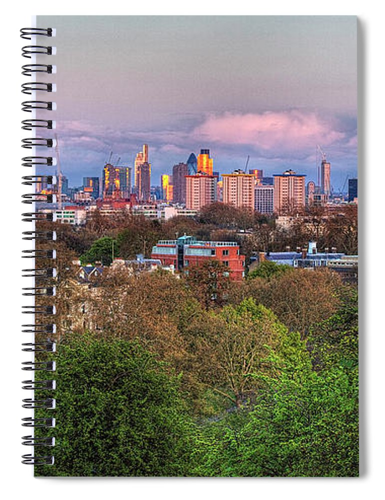 Outdoors Spiral Notebook featuring the photograph Primrose Hill by Esslingerphoto.com