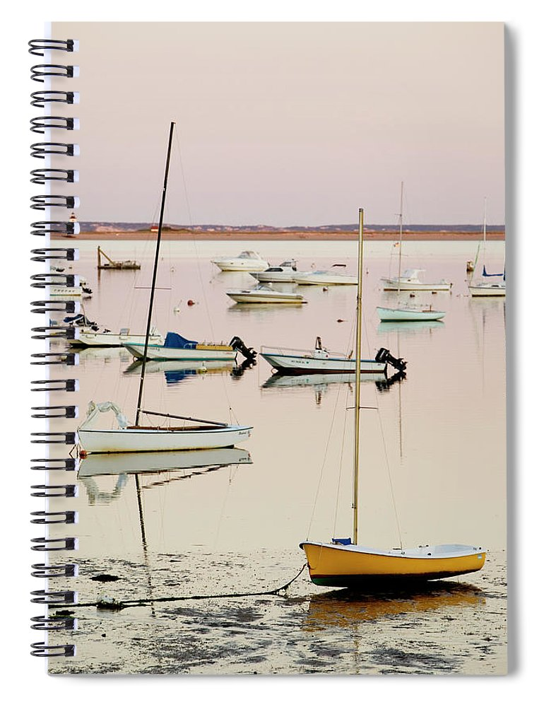 Sailboat Spiral Notebook featuring the photograph Provincetown Harbor by Walter Bibikow