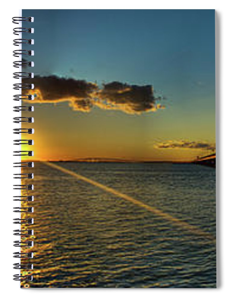 Panoramic Spiral Notebook featuring the photograph Queen Isabella Causeway by Joshua Bozarth
