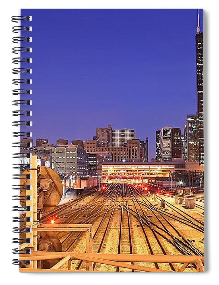 Railroad Track Spiral Notebook featuring the photograph Rail Tracks by Joseph Balynas