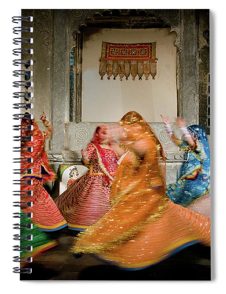 People Spiral Notebook featuring the photograph Rajasthani Dances by Ania Blazejewska