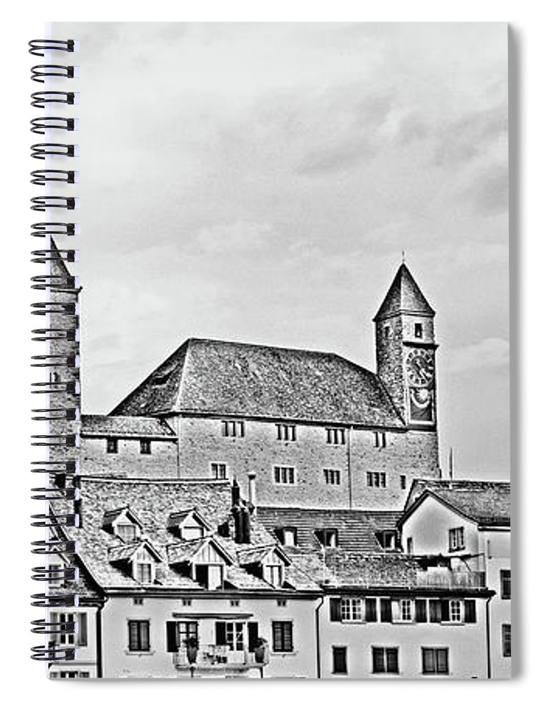 Rapperswil Spiral Notebook featuring the photograph Rapperswil Castle 2 by DiFigiano Photography
