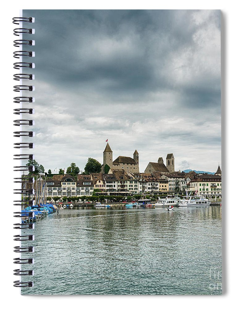 Rapperswil Spiral Notebook featuring the photograph Rapperswil Castle by DiFigiano Photography