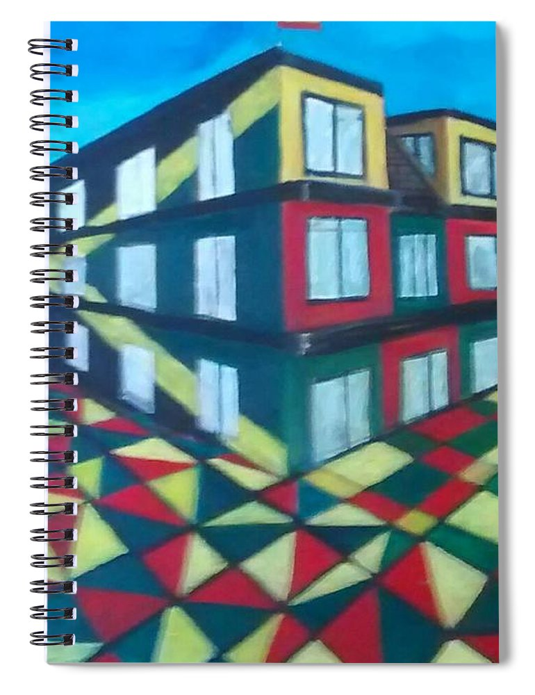 Rasta Art Spiral Notebook featuring the painting Rasta Academy by Andrew Johnson