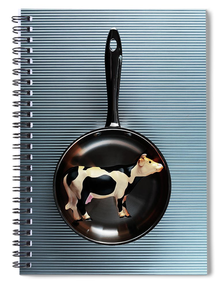 Concepts & Topics Spiral Notebook featuring the photograph Raw Steak by Thepalmer