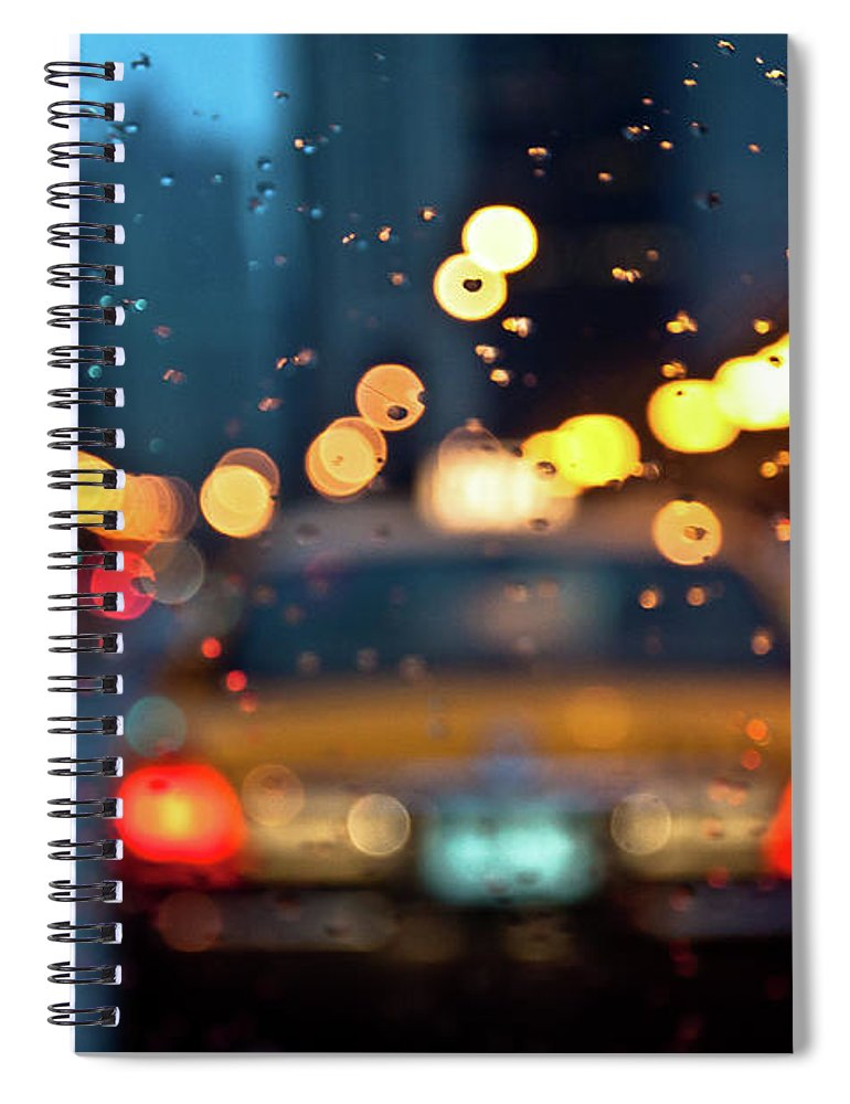 Car Interior Spiral Notebook featuring the photograph Raw, Wet & Cold by Romeo Banias