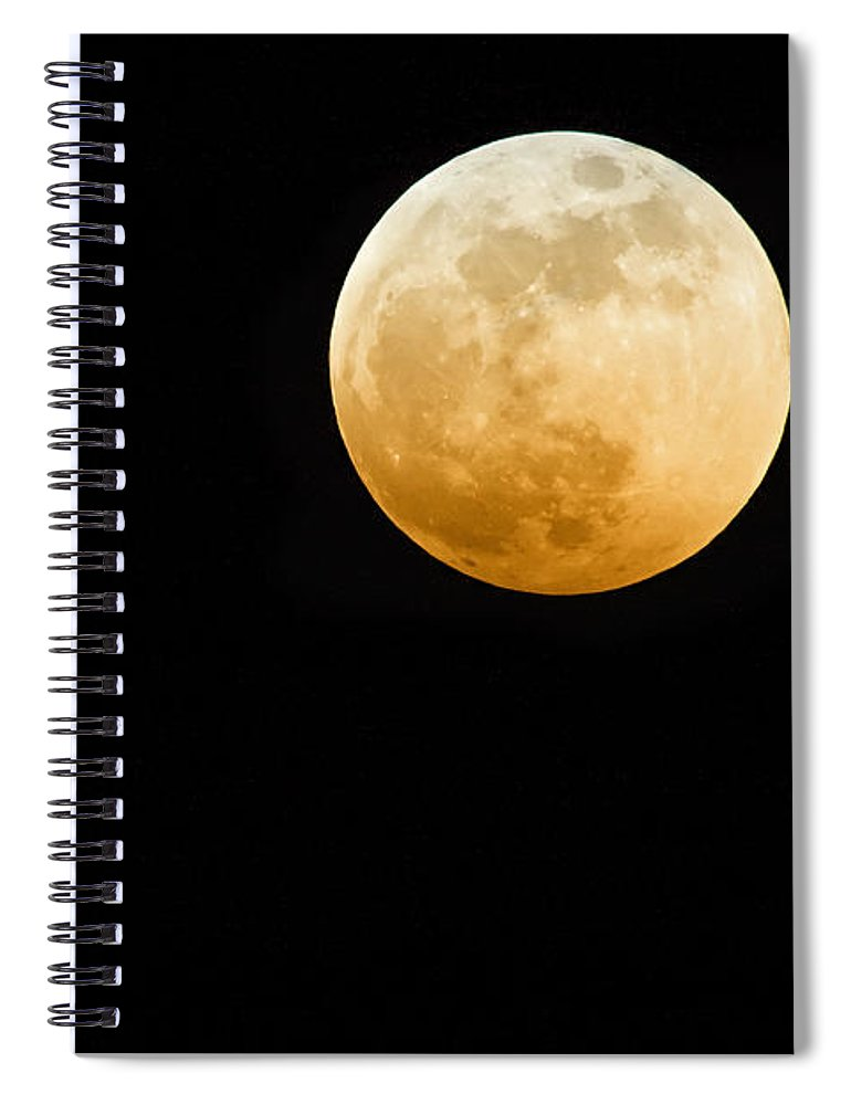 Shadow Spiral Notebook featuring the photograph Red Moon by Stevedangers
